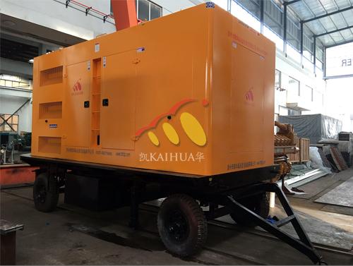 上海1台600KW移动静音机组今日成功出厂 发货现场 第1张