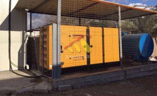出口迪拜的200KW静音发电机组成功交付