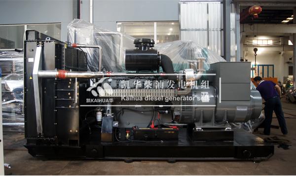 出口印尼的800KW威曼柴油发电机组成功出厂 发货现场 第2张