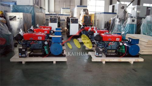 浙江6台18KW常柴发电机组今日成功出厂 发货现场 第1张