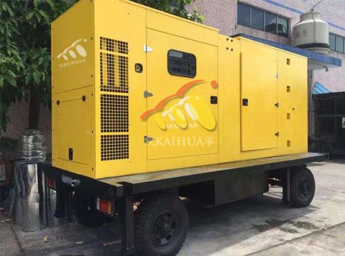 四川药业公司400KW移动型发电机组成功交付 国内案例