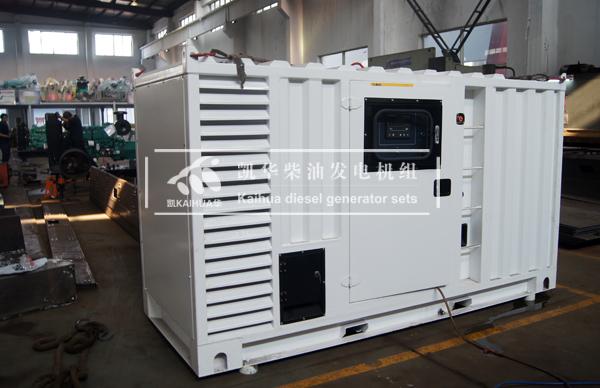出口新加坡的200KW集装箱式发电机组成功出厂 发货现场 第1张