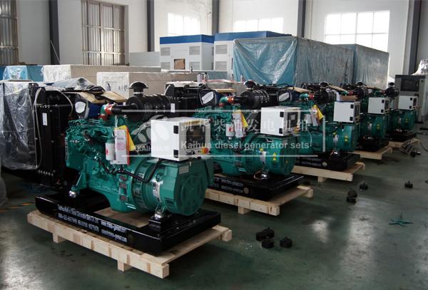 出口俄罗斯的五台康明斯发电机组成功出厂
