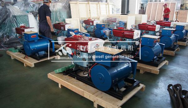 出口菲律宾的8台小功率发电机组成功出厂