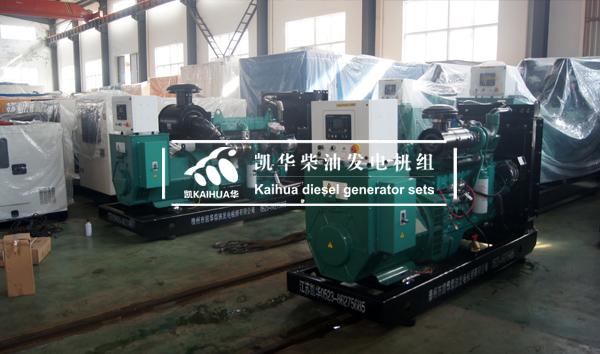 苏丹客户在我公司采购的两台康明斯柴油发电机组今日成功出厂