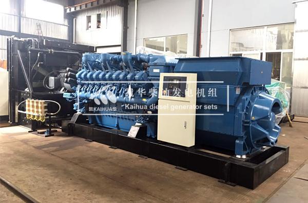 出口加纳的2000KW奔驰发电机组成功出厂