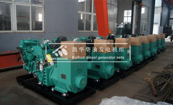 出口迪拜的12台船用发电机组成功出厂