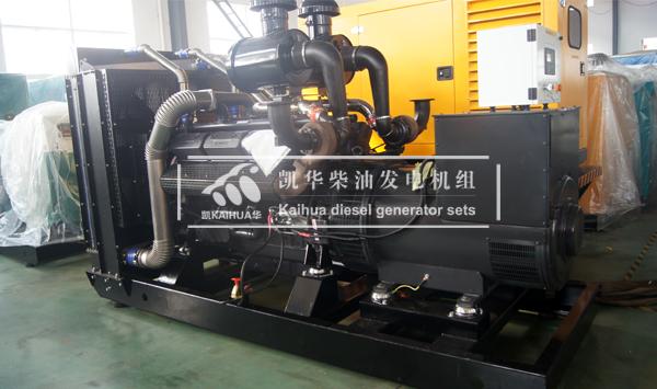 内蒙古牧业500KW上柴发电机组成功出厂 发货现场