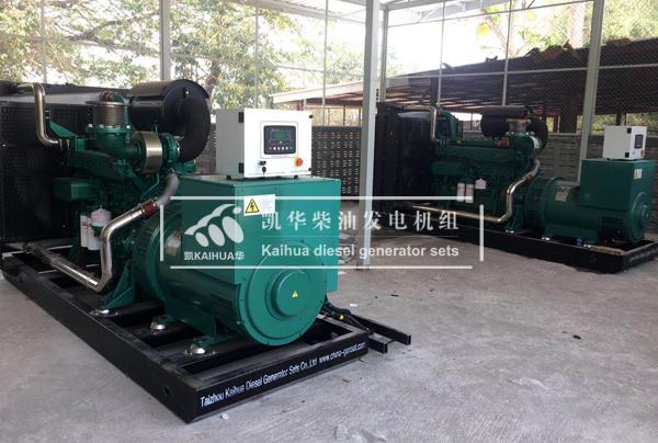 缅甸两台500KW玉柴发电机组成功交付