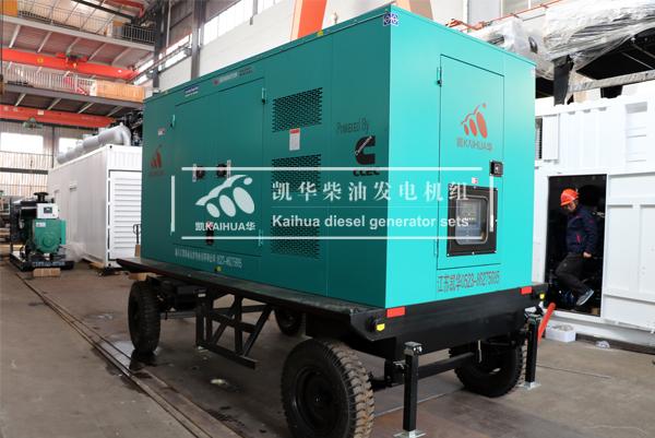 合肥铁路300KW移动式发电机组成功出厂