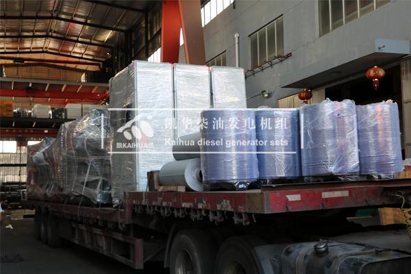 海南房产6台500KW上柴发电机组成功出厂 发货现场 第3张