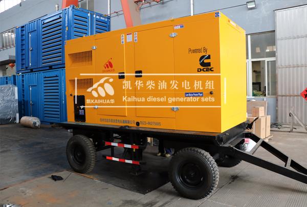 武汉通信200KW移动式发电机组成功出厂