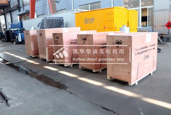 出口新加坡客户六台小功率康明斯发电机组近日成功出厂 发货现场 第2张