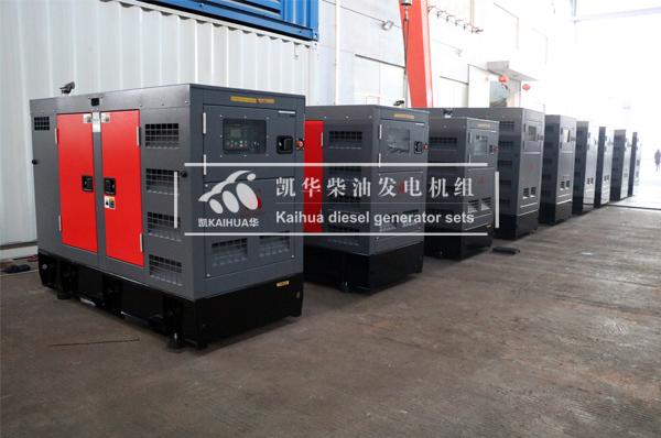 苏丹客户9台静音柴油发电机组今日成功出厂