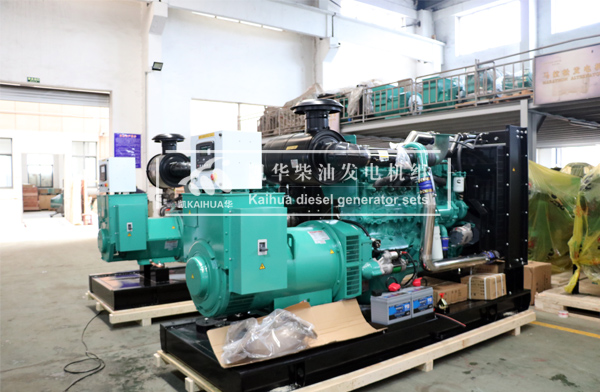 出口缅甸的两台康明斯发电机组成功出厂