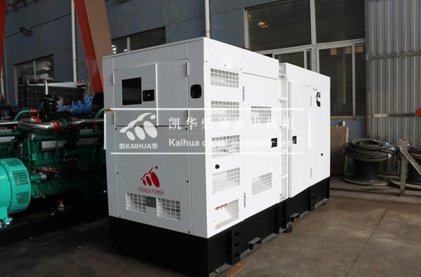 出口缅甸的200KW静音发电机组成功出厂