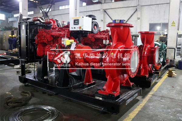成都两台150KW柴油机水泵机组成功出厂 发货现场 第1张