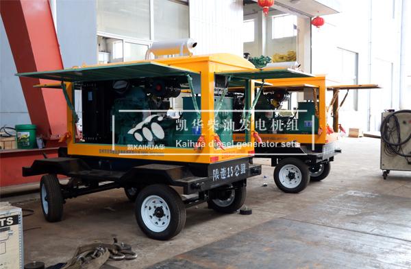 上海施工两台50KW康明斯发电机组成功出厂
