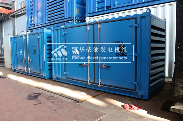 新加坡两台200KVA集装箱式发电机组今日成功出厂 发货现场 第1张