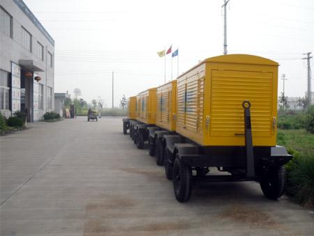 新疆建设工程公司10台移动柴油发电机组整装完毕 公司新闻 第2张