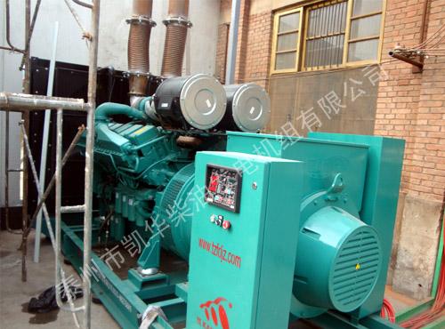 天津药业1000KW纯进口康明斯发电机组成功安装 国内案例 第2张