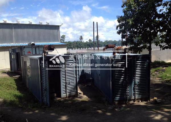 马来西亚四台集装箱发电机组