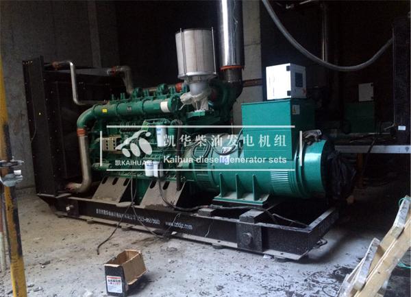 河南数据中心两台800KW玉柴发电机组