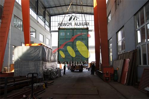 出口4台500沃尔沃机组今日成功出厂 发货现场 第2张