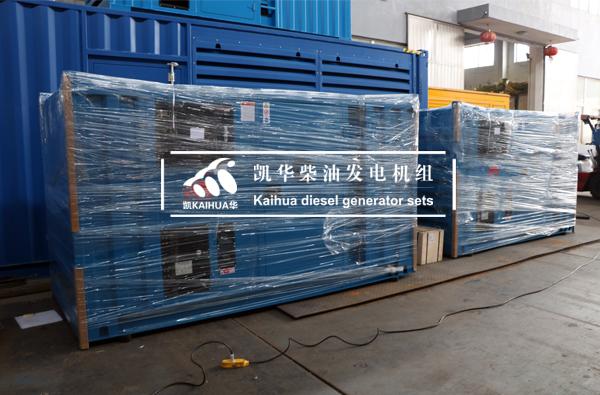 新加坡客户两台100KVA集装箱式柴油发电机组今日成功出厂 发货现场 第2张