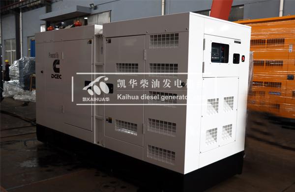 祝贺新加坡客户的300KW静音发电机组成功出厂 发货现场