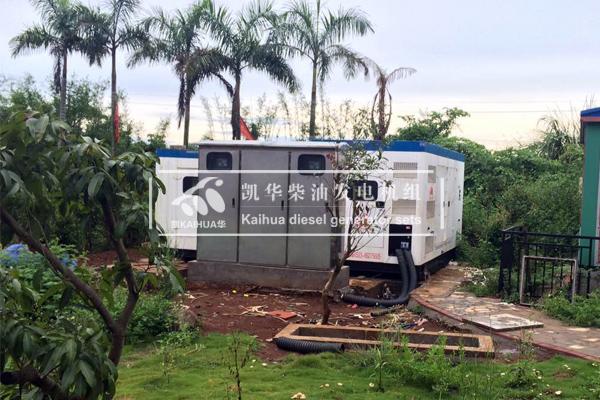 东南亚酒店两台500KW并机柴油发电机组成功交付 国外案例 第2张