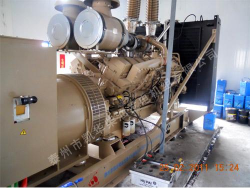 西宁矿业1200KW康明斯发电机组安装就位