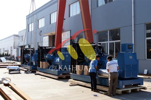 出口澳大利亚矿山的3台MTU发电机组成功出厂 发货现场 第1张