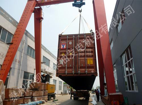 马来西亚某数据中心的两台850KW康明斯机组成功出厂 发货现场 第4张