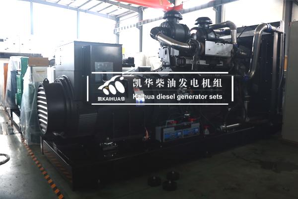 祝贺上海某路桥公司600KW上柴发电机组成功出厂