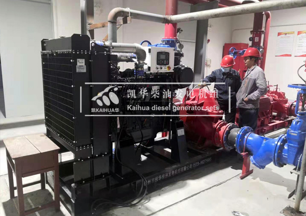 浙江某化工企业2台柴油水泵机组成功交付